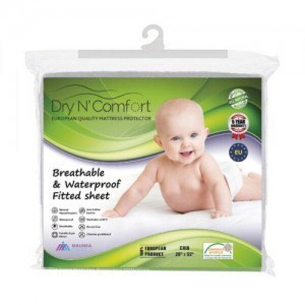 Vandens nepraleidžianti paklodė su guma kūdikiams